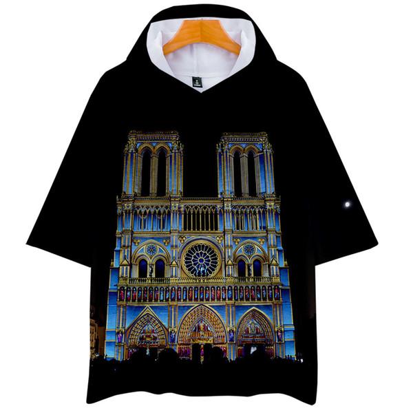 Notre Dame de Paris Men Women Tshirts Summer Fashion 3D Printed Tops Short Sleeved Tees
