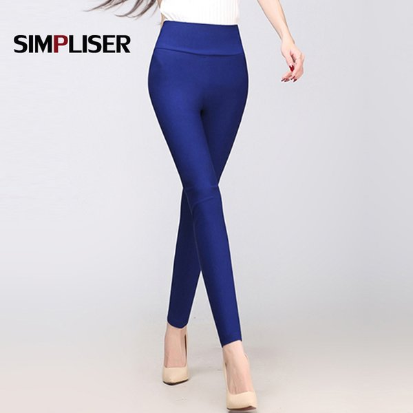 6f1e218da014cc Waist Leggings For Women Candy Color Pencil Pants High Stretch Female  Casual Trousers Plus 6XL Large