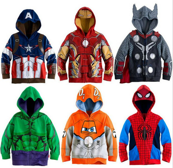 best selling Children's Boy Spider-Man Coat Heroes League Zipper Sweater Hoodie Boys Jacket Hoodie Boy Spider-Man Sweater Jacket Children's Cartoon