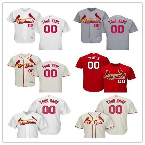 sale retailer b1b50 05650 2019 Men'S St. Louis Cardinals Majestic Home White Flex Base Road Gray Flex  Alternate Ivory Base Authentic Collection Custom Jersey From Pc0005, ...