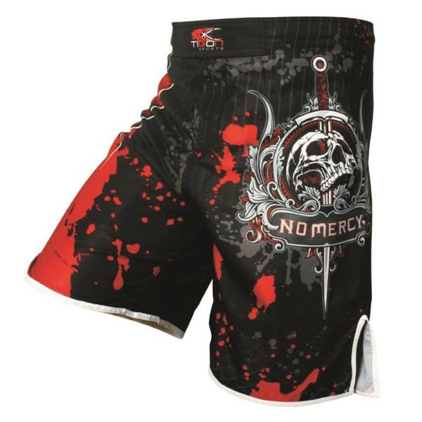 skull trunks fitness training tiger muay thai shorts boxing sanda pants boxing shorts jujitsu kickboxing