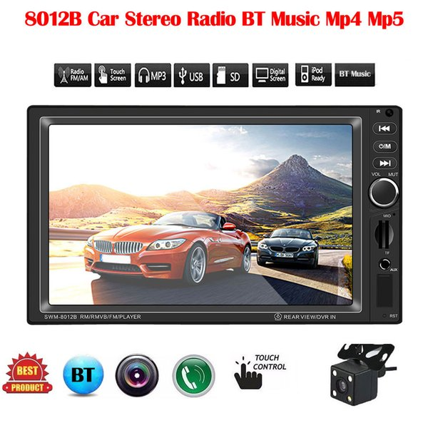 100% Brand New Car Stereo Radio BT Music Mp4 Mp5 FM 7IN HD Player 2 Din Audio Autoradio AUX Us Mobile Internet Ingresso video # P10 dvd auto