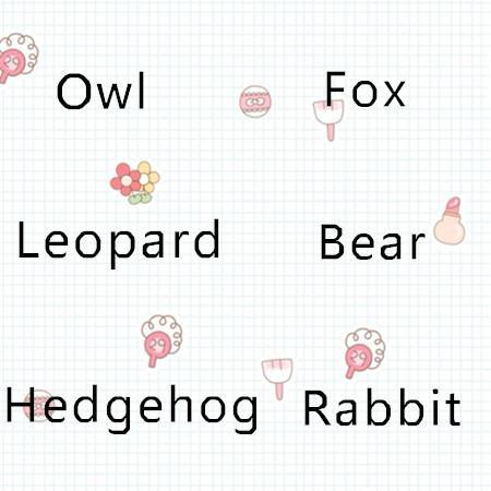 20cm forest animal plush toy rabbit owl fox Beaver hedgehog lynx bear stuffed slodziaki gang slogift
