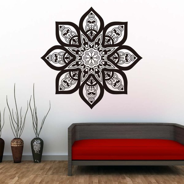 1 Pcs Mandalas Indian Pattern Wall Stickers Removable Vinyl Wall Decal Waterproof Art Wallpaper Vintage Home Decor