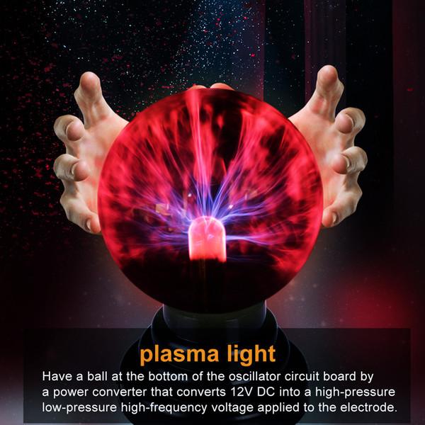 Neuheit Beleuchtung Glas Magie Plasma Glaskugel Licht Tischleuchten Kugel Nachtlicht Kinder Geschenk Für Neue Jahr Weihnachten Magie lampe