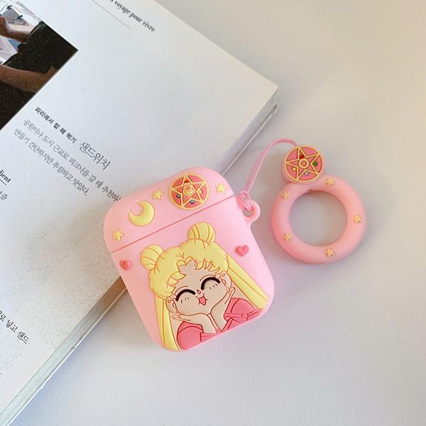 3d kawaii airpods case para apple airpods capa protetora moda para air pods airpod bonito da menina rosa fone de ouvido case designer de luxo 100 pcs