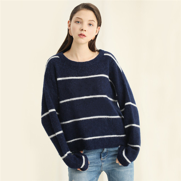 2019 winter fashion new Women's Sweater Single collar basic pullover with open-cut jacket ,cotton 187141