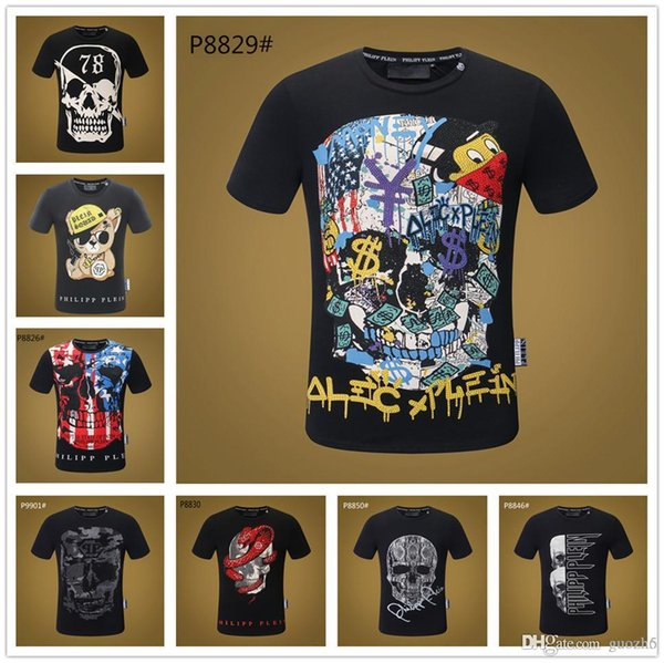 TOP! Mix 22 model Men's 3d Tshirt Triple Skull Fashion T-shirt Short Sleeve Cotton O-neck Shirt Funny Print Many Skull Tees Cool Tops