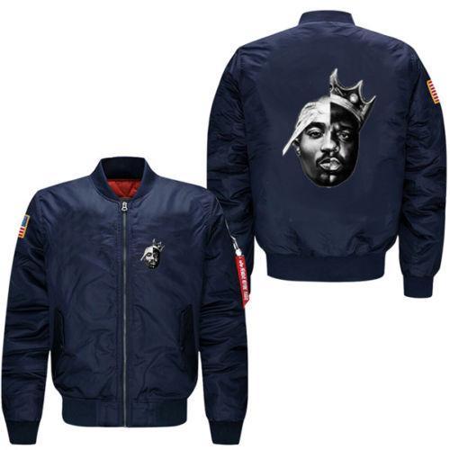 2018 New Notorious Big 2PAC Eazy Tupac autumn men's leisure jacket Air Force pilots jacke Pilot jacket casual wear sportswear