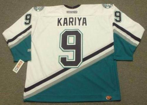 2019 Custom Men Women Youth PAUL KARIYA Anaheim Mighty Ducks 2003 CCM Home Hockey Jersey Goalie-cut Top-quality Any Name Any Number
