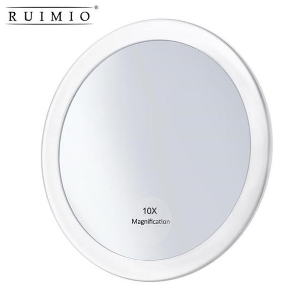 Круглое зеркало составляет складывая карманное Косметическое зеркало увеличения компактное зеркало с 3 чашками всасывания 5,9 дюйма
