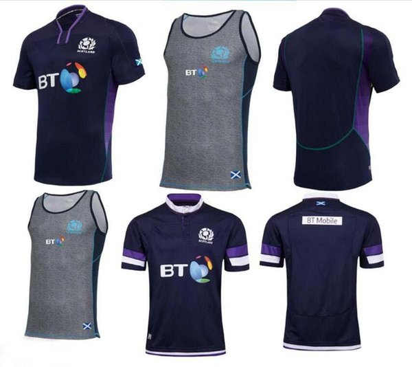 2018 Scotland Rugby Maillot RWC Strip Scottish Domicile Extérieur Kits Rugby JERSEYS World Cup 2017 Écosse Rugby JERSEYS taille S-M-L-XL-3XL