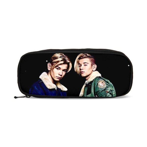 New Marcus And Martinus Prints Large Boys Pencil Case Canvas School Pen Pouch Purse Student Supplies Portable Organizer Wallets #529246