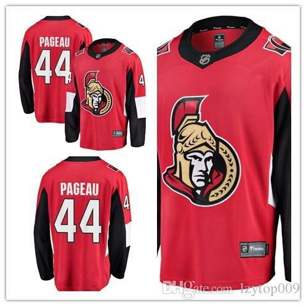 personalizado 2019 de Homens Senators 44 Jean-Gabriel Pageau Fanatics Branded Red Breakaway Jogador Ottawa mulheres crianças Jersey