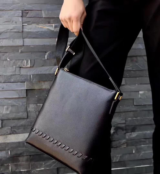 Mens Briefcase Business Bags Casual Business cow Leather Mens Messenger Bag Vintage Men's Crossbody Bag Bolsas Black Shoulder Bags 0246