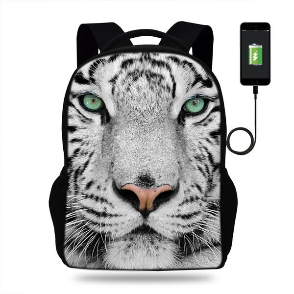 Zaino funzionale multiplo popolare di 16 pollici per la borsa di scuola della tigre delle ragazze dei ragazzi delle ragazze per i sacchetti casuali degli studenti dei bambini