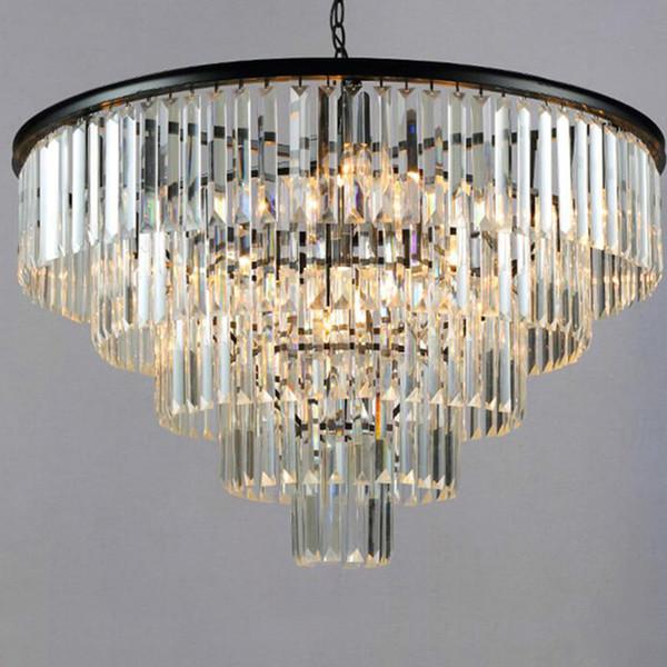 Moderno lampadario di cristallo K9 cristallo elegante Smoky Grey cristallo Sospensione Lamparas Cafe Ristorante Hotel Soggiorno
