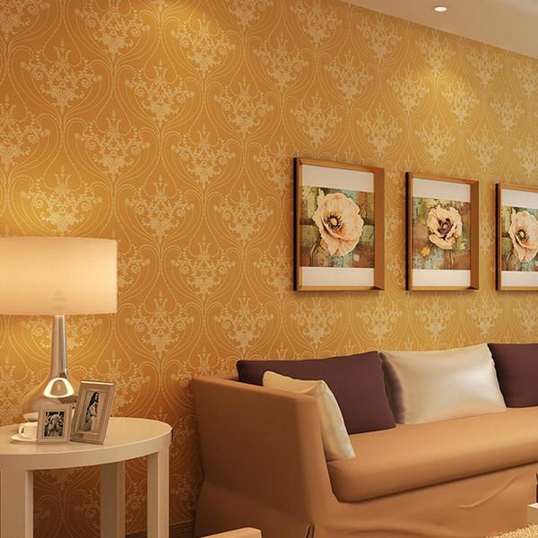 decorazione carta da parati beibehang lussuosa eleganza europea Damasco wallpaper soggiorno wallpaper camera da letto Papel de Parede