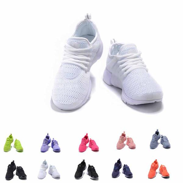 Nuevo 2019 Mujeres Presto Hombres zapatos casuales para correr Rojo amarillo y negro Tres zapatos para hombres negros Zapatos casuales