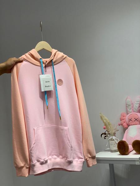 19fw luxurious brand Design acne Peach Fleece catching Women Men Casual Sweatshirts Sweater Pullovers Streetwear Outdoor Hoodies