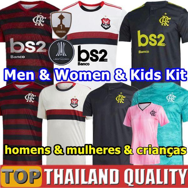 2019 CR Flamengo Fußballtrikots 19 20 Flämisch GUERRERO DIEGO VINICIUS JR Flamenco Fußball Trikot gesetzt GABRIEL B Männer Frau Kinder-Kit Uniformen