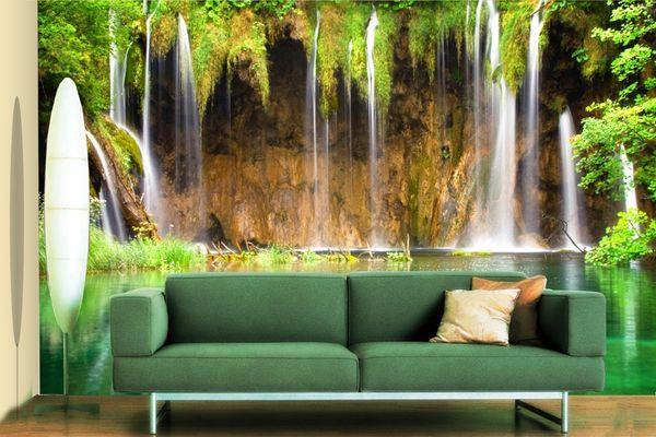 [Autoadesivo] 3D Water Curtain 47174 Carta da parati murale Stampa murale Adesivi murali