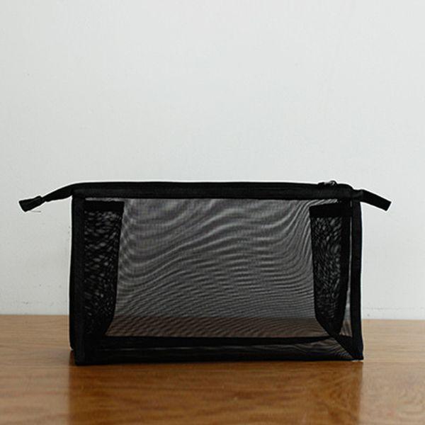 Women Nylon Pouch Travel Washing Makeup Bag Mesh Portable Transparent Toothbrush Storage Organizer Case Cosmetic