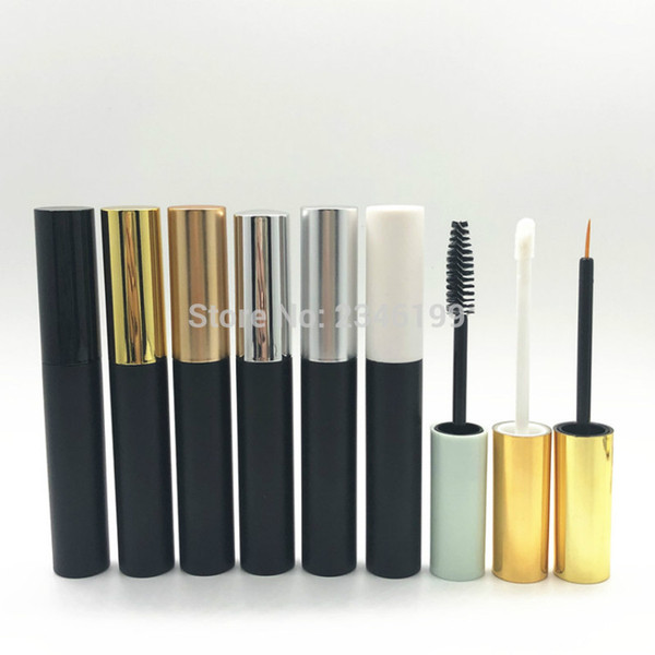 Black Mascara Tube 10ml Empty Eyeliner Cosmetic Container Lipgloss Packaging Empty Golden Mascara Eyeliner Lipgloss Tube 50pcs