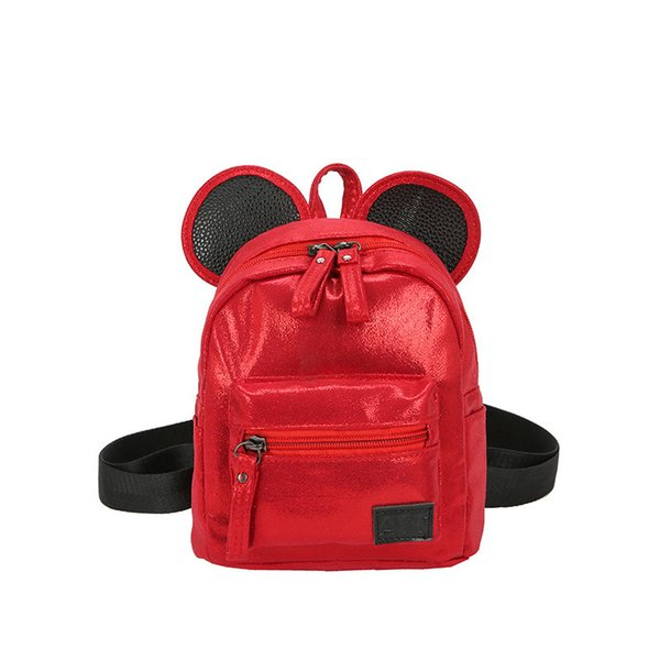 Women Pu Leather Backpacks Cartoon Ears Fashion Mini Casual Bags For School Students Teenagers Travel Small Cute Girls Backpack