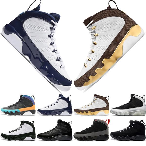 9 9s Chaussures de basket-ball pour hommes Dream It Do It Mop Melo Anthracite LA Oreo 2010 RELEASE Spirit Bred UNC Sports Sneakers