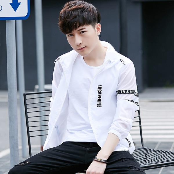 Pop2019 Sommer Ultradünne Belüftung Koreanische Selbstkultivierung Student Even Hat Verteidigung Windjacke Lose Mantel Haut Kleidung