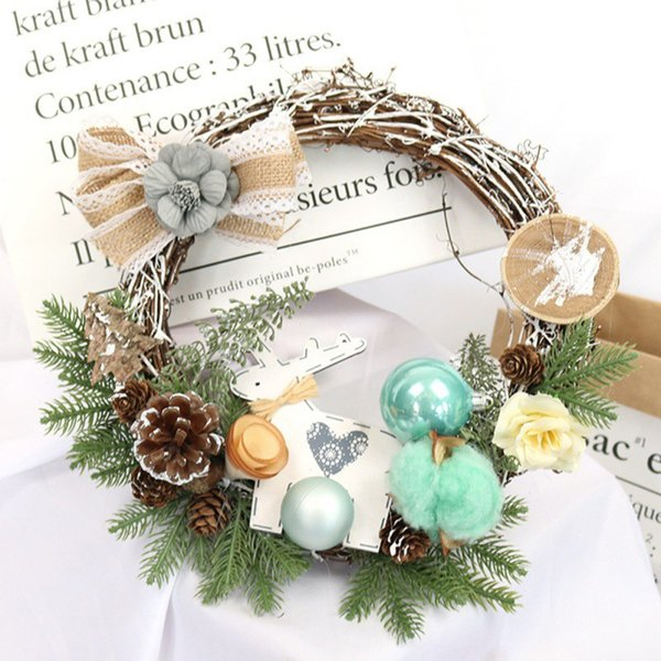 Albero di Natale portatile ghirlanda di piante Rattan Densificante Albero di Natale Articoli per feste 25cm n