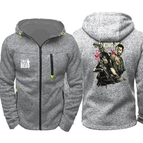 Walking dead Men Sports Wear Hoodies Zipper Tide Jacquard Fall Sweatshirts Spring Autumn Jacket Coat Tracksuit Tops