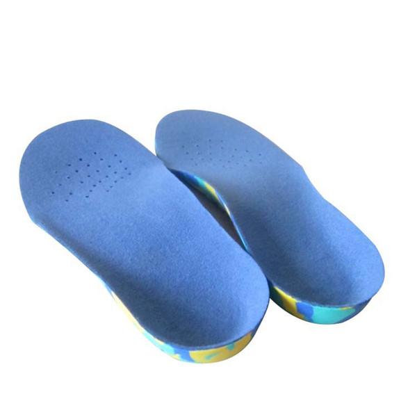 Crianças Arco Respirável Apoio Anti Slip Conforto Sapato Inserções EVA Camuflagem Plantar Palmilha Crianças Flatfoot Correcção All Season