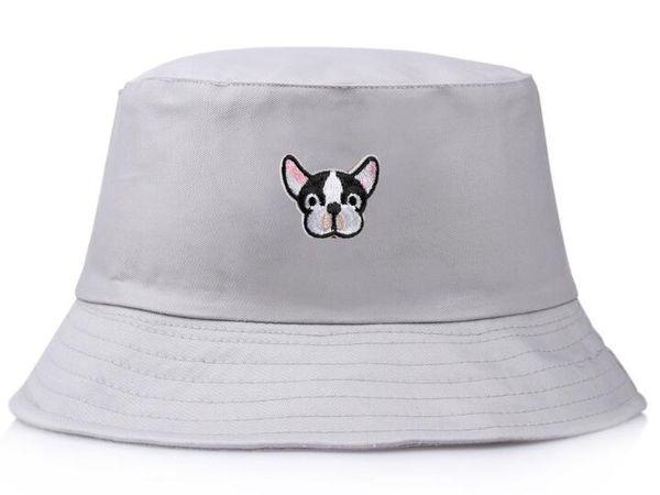 Top Selling boné bonito do cão das mulheres bordado Bucket Chapéus de algodão ao ar livre streetwear moda mulher gorras