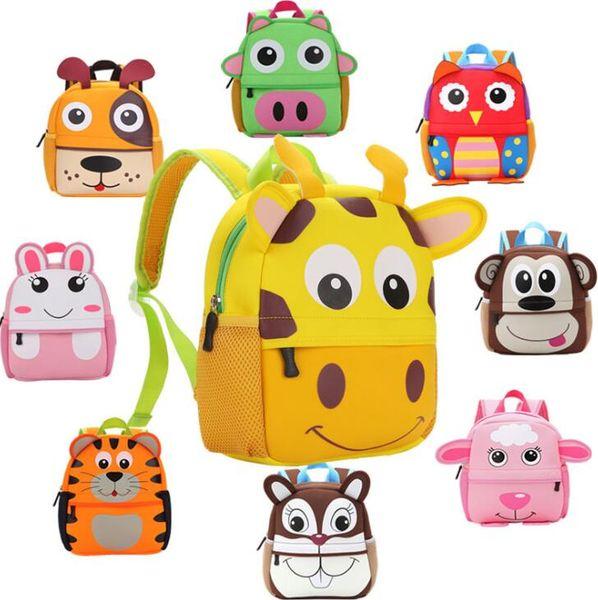 best selling School Bags Kid Toddler Backpack Kindergarten Shoulder Bag Baby Cartoon Animal Bag for 2-5years baby