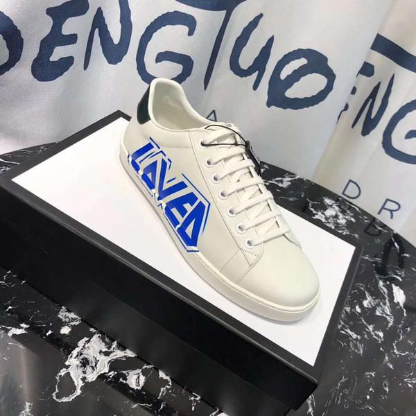 Motif cannage Fashion Oblique B24 Chaussures Casual Blanc Noir Oblique toile D Knit Formateurs Flats simples de femme Chaussures de sport Hommes 35-45
