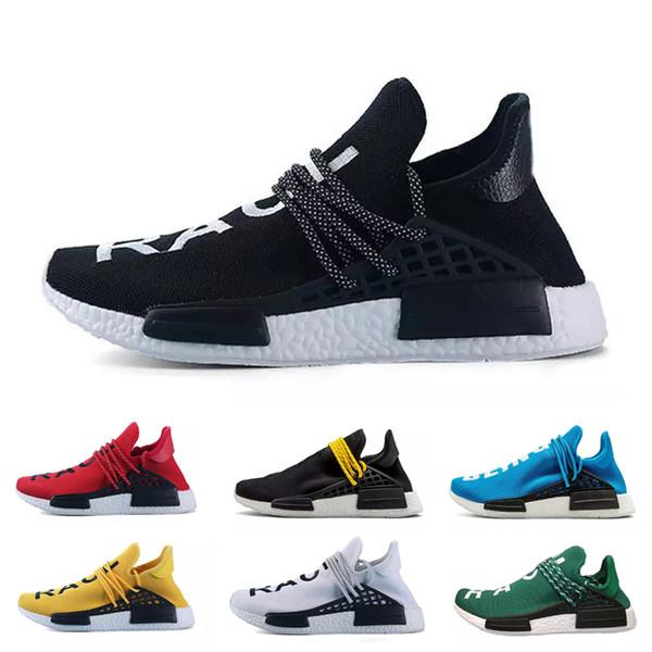 İnsan Yarışı Hu iz pharrell williams erkekler koşu ayakkabı Nerd siyah krem Holi erkek eğitmenler kadın tasarımcı spor koşucu sneakers 20
