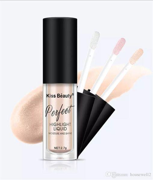 Kiss Beauty Makeup Face Concealer 3pcs/Set Liquid Highlighter Primer Base Bronzer Face Glow Liquid Highlighter Cosmetics