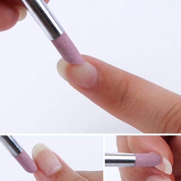 5pcs Stone Nail File Nail Art Tools Cuticle Remover Trimmer Buffer Pedicure Manicure Files Hot