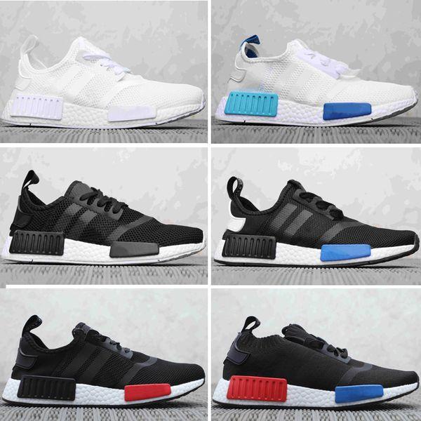 2019 Human Race Mens Running Shoes Pharrell Williams Sample Yellow Core Black Sport Designer Shoes Women Sneakers 36-45 br
