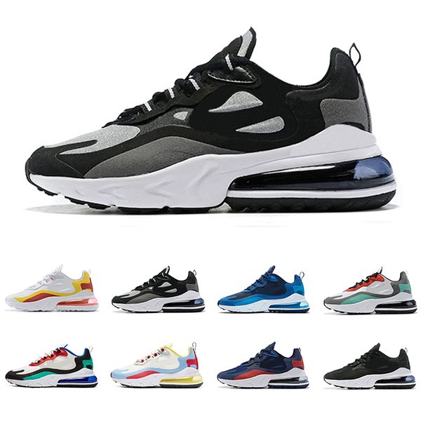 2019 New arrival react men running shoes top quality BAUHAUS OPTICAL triple black fashion mens trainers breathable sports sneakers
