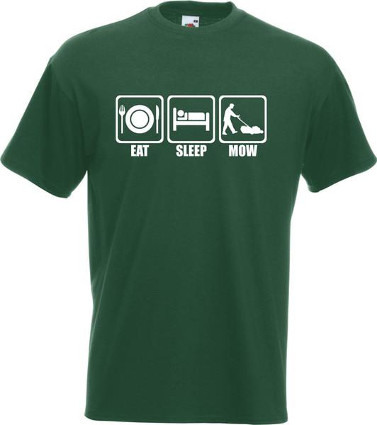 EAT SLEEP MOW Funny Gardener T-Shirt Lawn Grass Mower Mowing Gift Garden Divertente Divertente spedizione gratuita Unisex Casual