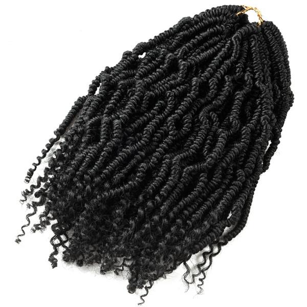 Bomb Twist Crochet Trenzas Extensión Del Pelo Sintético Ombre Spring Twist Kinky Curly Kanekalon Para Mujeres Afro