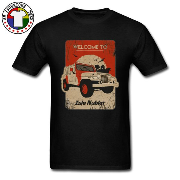 Isla Nublar Square Island Black T Shirt Plus Size 3XL Retro Style Faddish Tops Tees Custom Game Funny Tshirts Boy