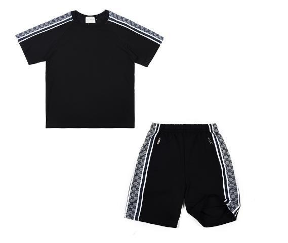 Sport suits Set Men women Suits Summer 2PC Set Mens Stand Collar Fashion 2 Pieces T-shirt Shorts Tracksuit