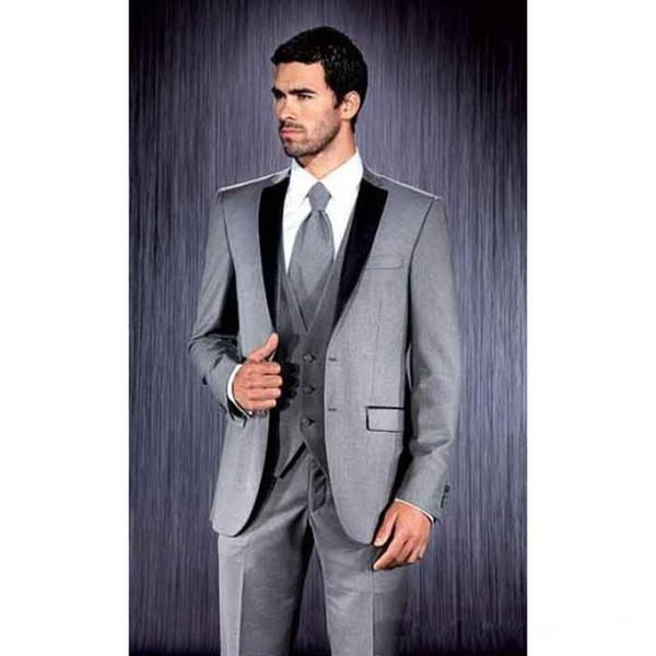 New Men Suits Designer Retro Tweed Herringbone Groom Slim Tailored Fit Suit  Gray Blue Brown Plus Size Custom All White Tux Black Tuxedo Dress From ...