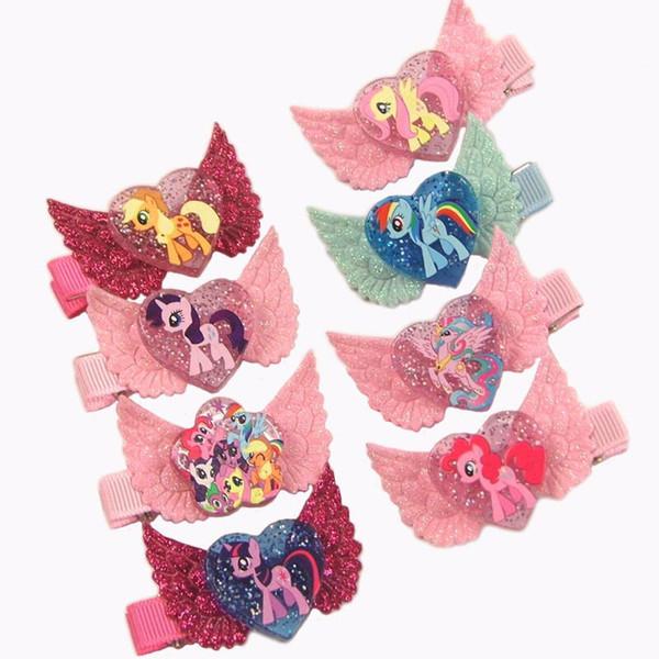 Cartoon Children Princess Angel Wing Hairpin Baby Girls Hair Clip Barrettes Kids Hair Accessories Beautiful HuiLin
