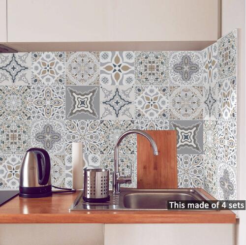 Self Adhesive Mosaic Tile Sticker Kitchen Backsplash Bathroom Wall Tile Stickers Decor Waterproof Peel Stick Pvc Tiles 15 15cm 20 20cm Bathroom Tile