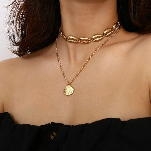Bohemian Alloy Shell Necklace